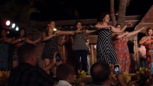 21. hawaii oahu germaine's luau friends dancing hula stage evening entertainment